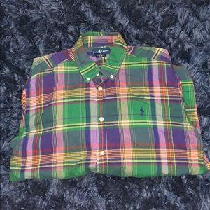 Plaid Button Down Polo Ralph Lauren Shirt
